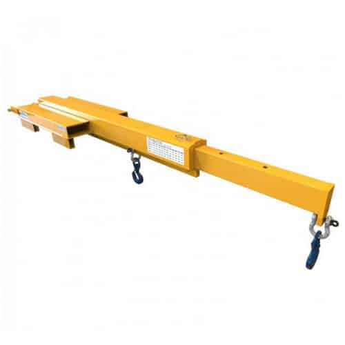 Low Profile Extendable Jib Forklift Attachment
