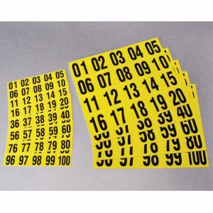 Self-adhesive Consecutive Number Tiles