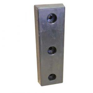 Moulded Rubber Dock Bumper 3 holes 101 mm