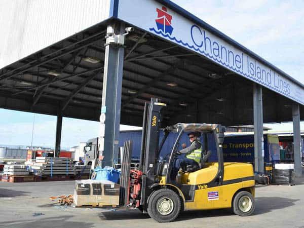 Solent Forklifts supply Yale Forklifts to channel Island Lines