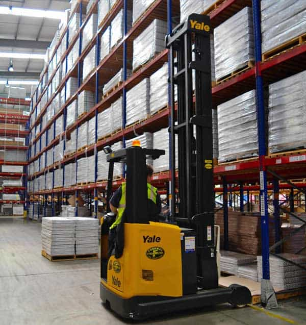 Yale Reach Truck supplied by Forkway at Stelrad